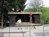 Pohled na rekonstruované podium