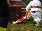 Ukázka záchrany panenky z domečku