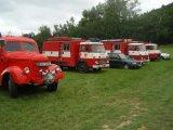 Zaparkovaná hasičská auta
